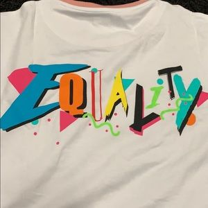 """Brand new oversized """"Equality"""" shirt size Small"""